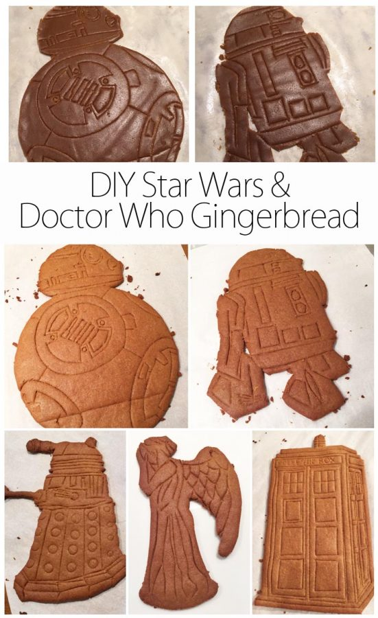 DIY Doctor Who and Star Wars Gingerbread