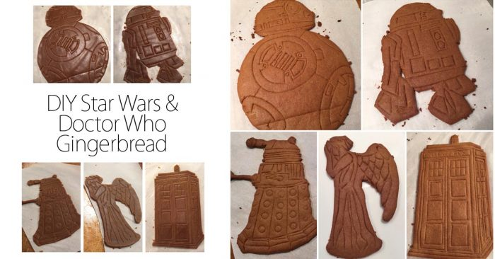 DIY Star Wars and Doctor Who Gingerbread social media image