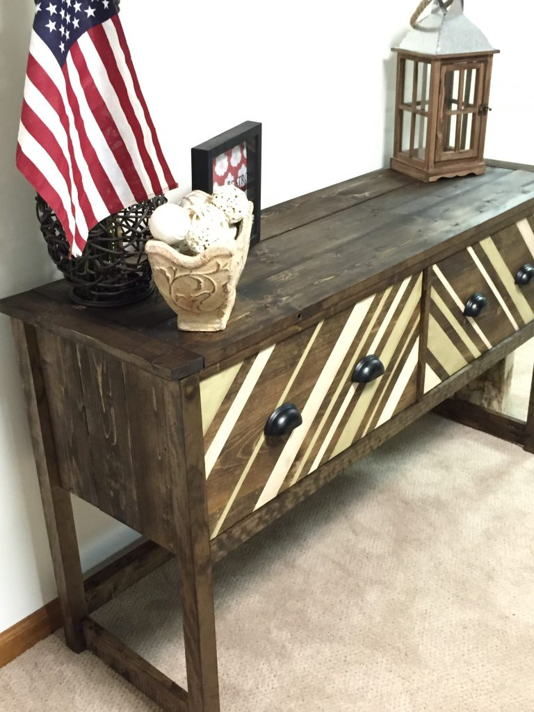 diy console table challenge build