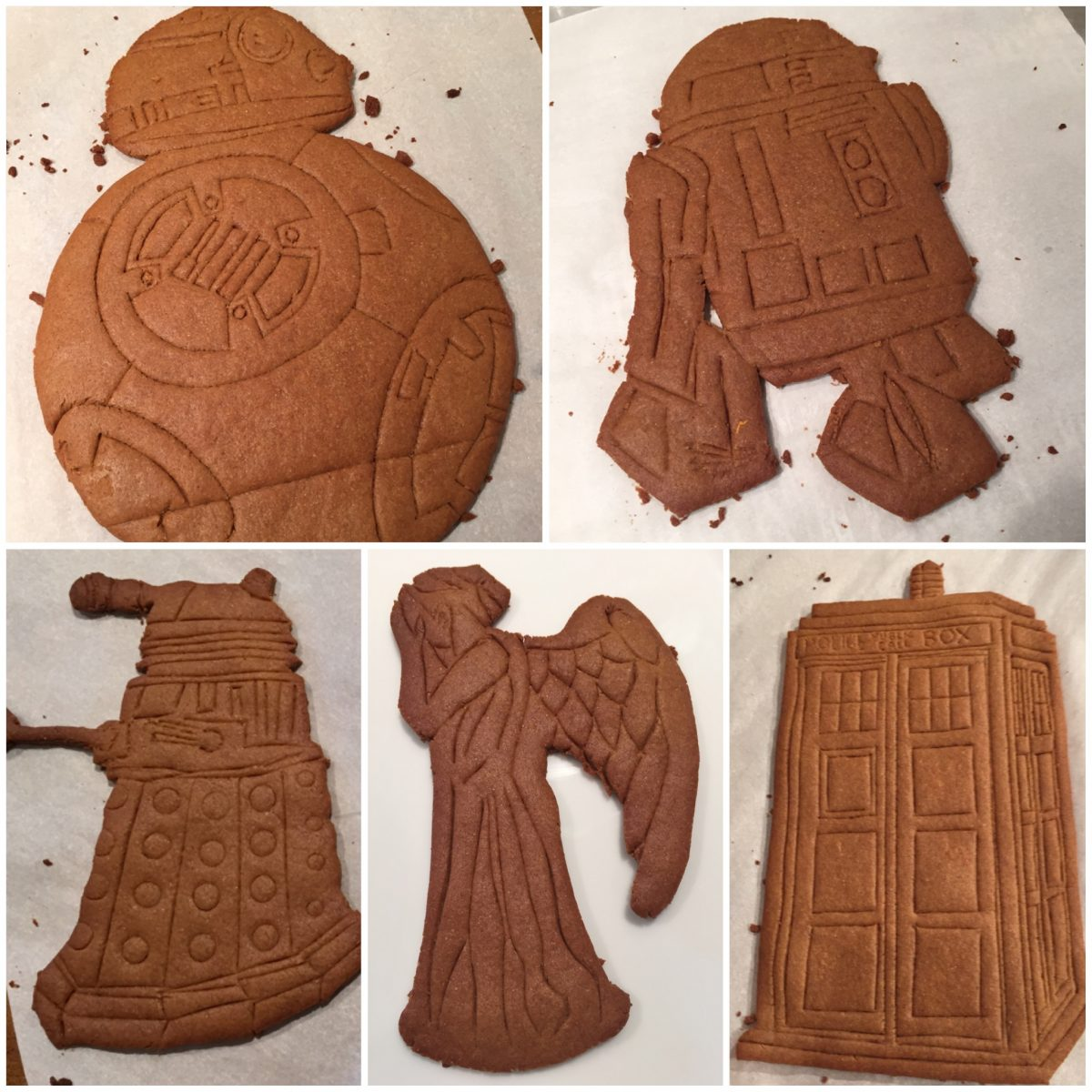 Doctor Who  & Star Wars  Gingerbread