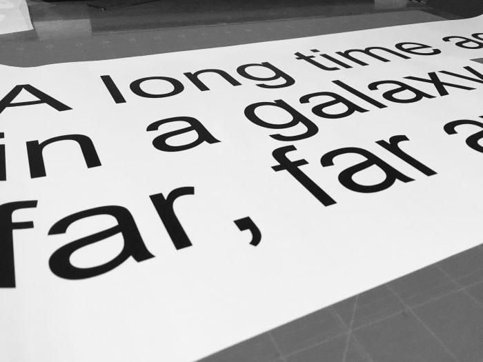 Star Wars Room - A long time ago in a galaxy far far away text