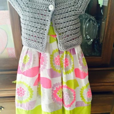 Toddler girl crochet cardigan