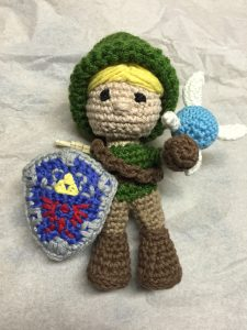 crochet link and fairy legend of zelda
