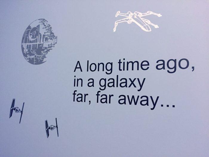 star wars room vinyl wall decal A long time ago in a galaxy far far away