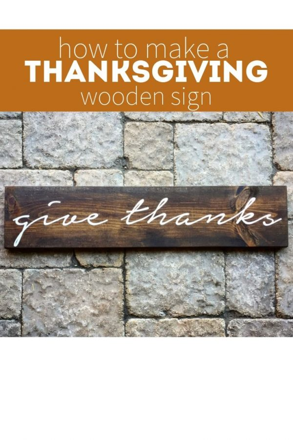 how to make a thanksgiving wood sign pinterest image
