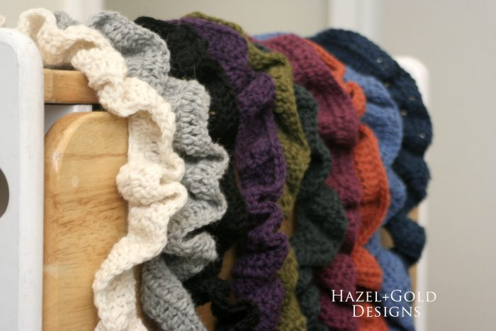 crochet ruffle scarf colors