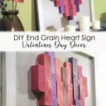 DIY End Grain Heart Valentines Day Decor Pinterest Image