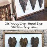 DIY Wood Shim Hearts Valentines Day Decor Pinterest Image