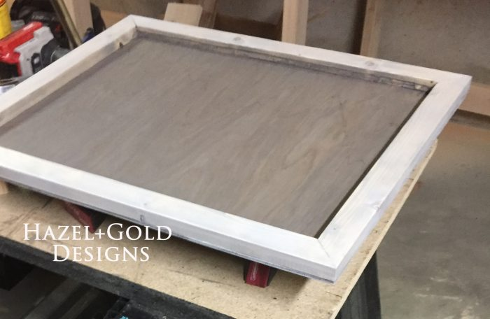 wooden heart decor - staining white to fix it