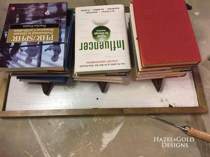 wood shim hearts - book weights