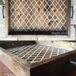 DIY Wooden Serving Tray Pinterest Image
