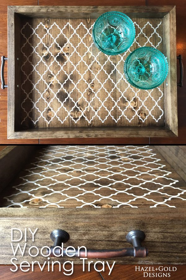 DIY Wooden Serving Tray Pinterest Image2