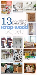13 scrap wood project pinterest image
