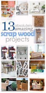 13 scrap wood project pinterest image