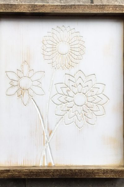wood designs with a router - floral art