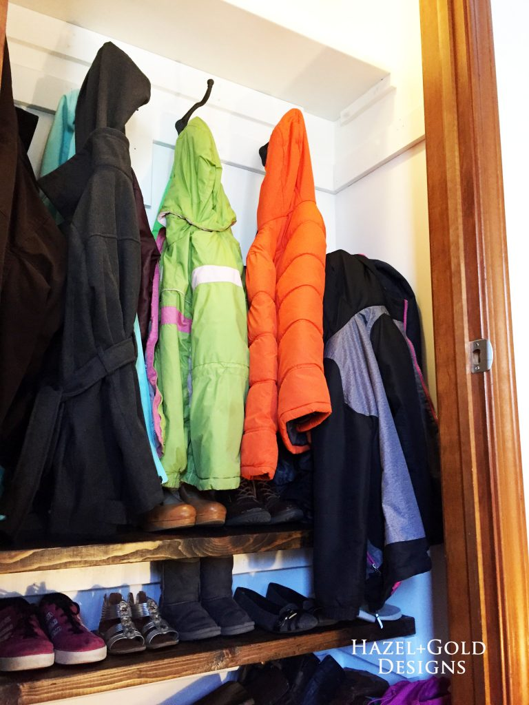 Completed closet renovation