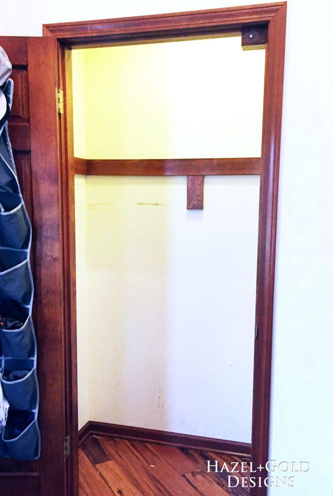 closet renovation - BEFORE EMPTY