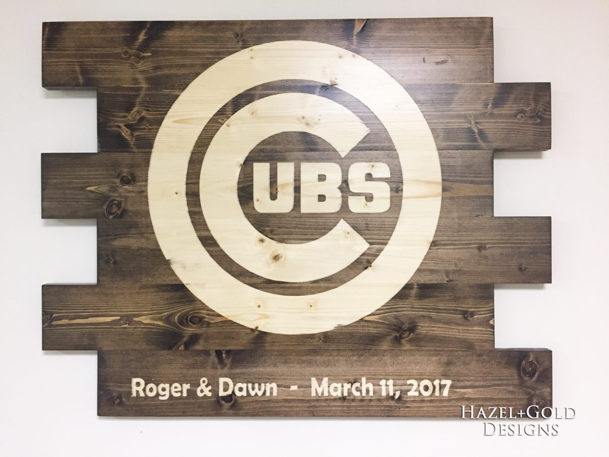 DIY Wooden Cubs Sign