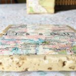 Geographical Tile Coasters - completed 2 close