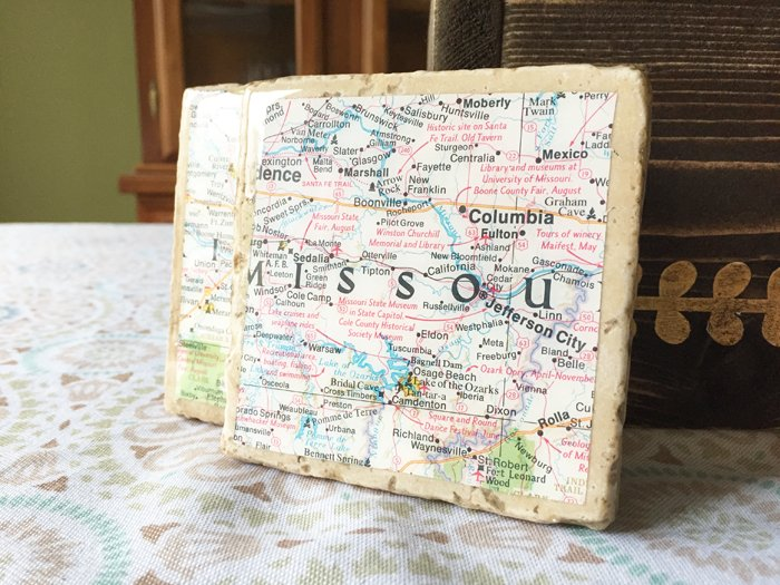 Geographic Tile Coasters