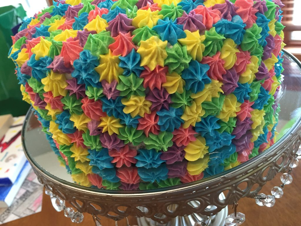 rainbow birthday cake - completed all colors