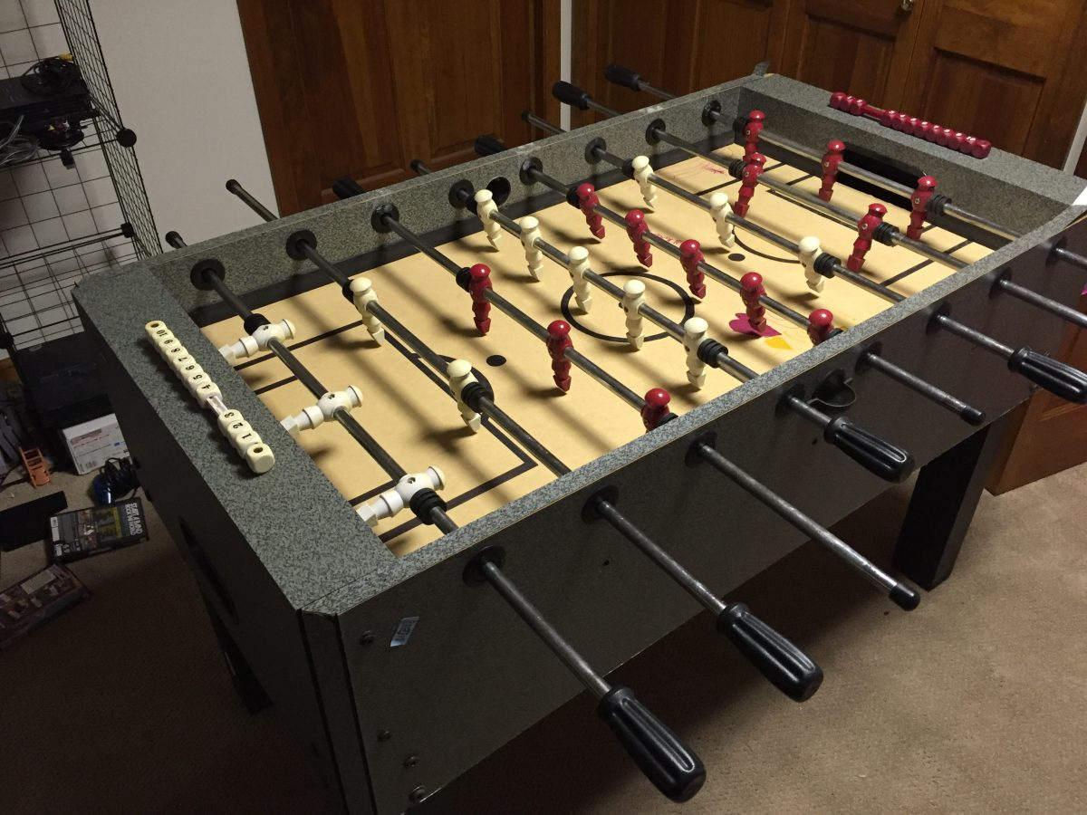 Foosball Table Quick Fix