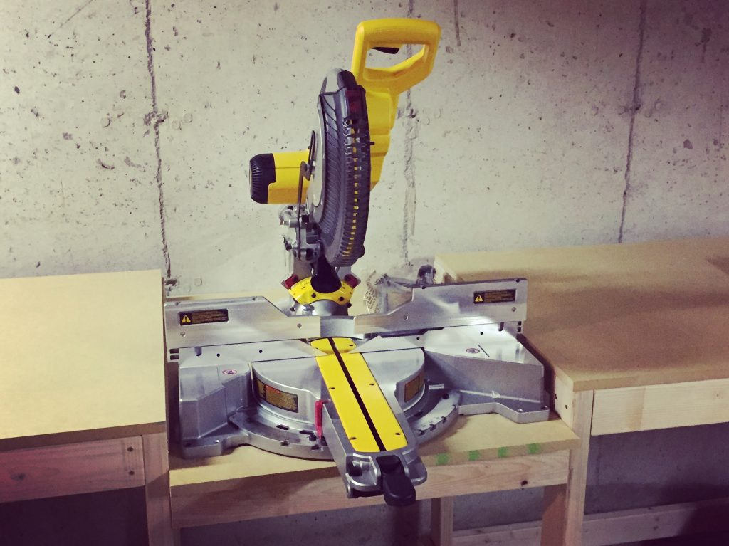 hazel and gold designs miter saw table