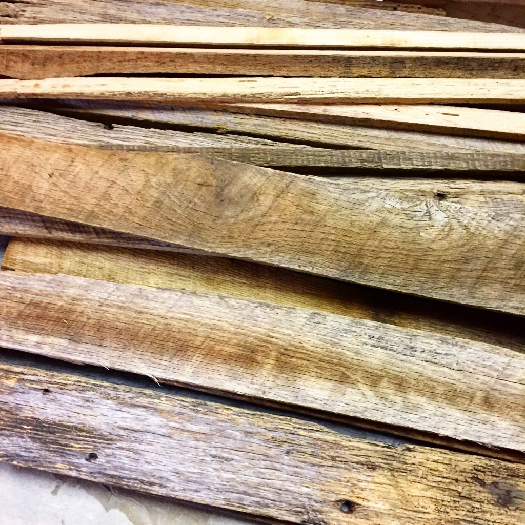 reclaimed barn wood scraps