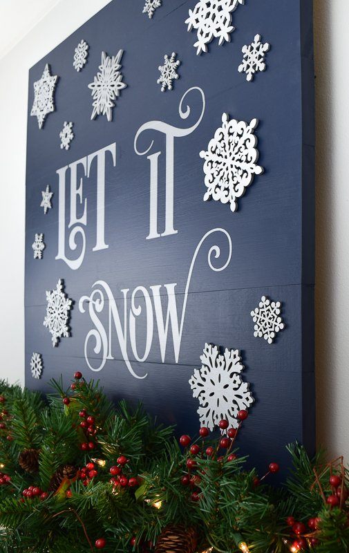handymans daughter let it snow wood sign