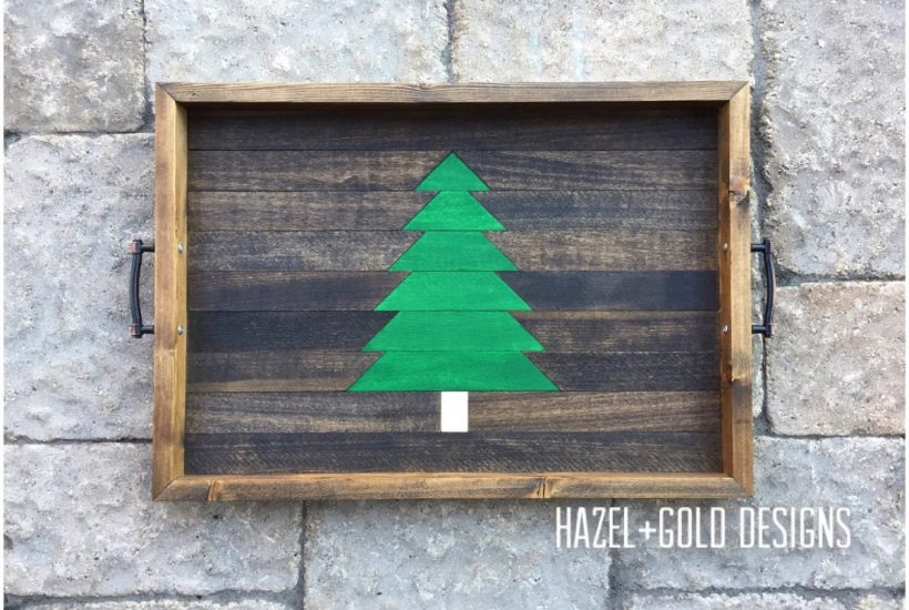 hazel and gold designs christmas serving tray