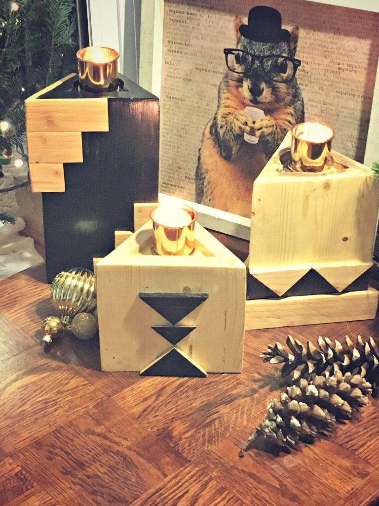 knock it off kim diy geometric candleholders