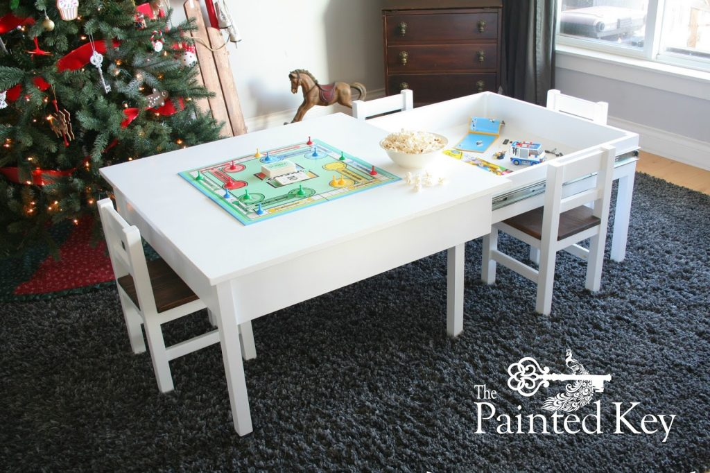 the painted key lego sliding table