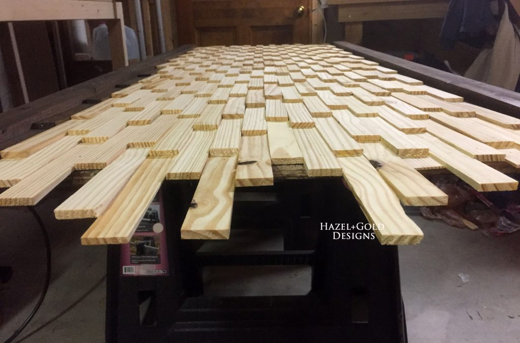 wood shim headboard unstained shims