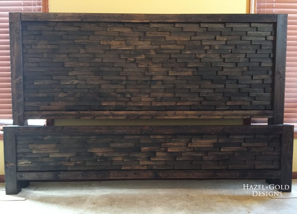 wood shim headboard footboard