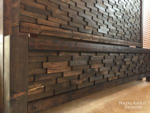 DIY Textured Headboard/Footboard