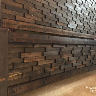 wood shim headboard