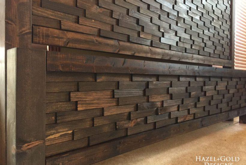 wood shim headboard