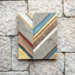 reclaimed barn wood chevron art