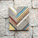 reclaimed barn wood chevron art