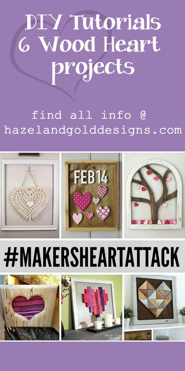 DIY Wooden Heart Decor - End Grain Wood Heart