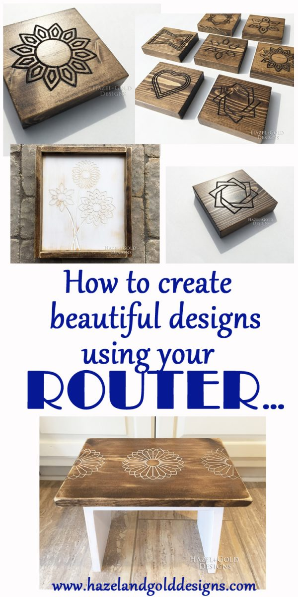 DIY Wood Designs using a Router - Create amazing designs in wood with a router and template kit!