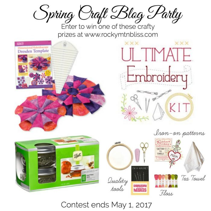 spring blog party giveaway image