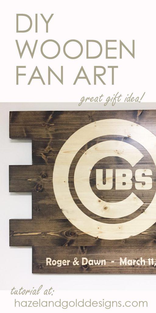 wooden cubs sign pinterest image