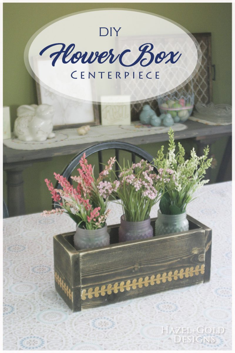 centerpiece flower box - pinterest image