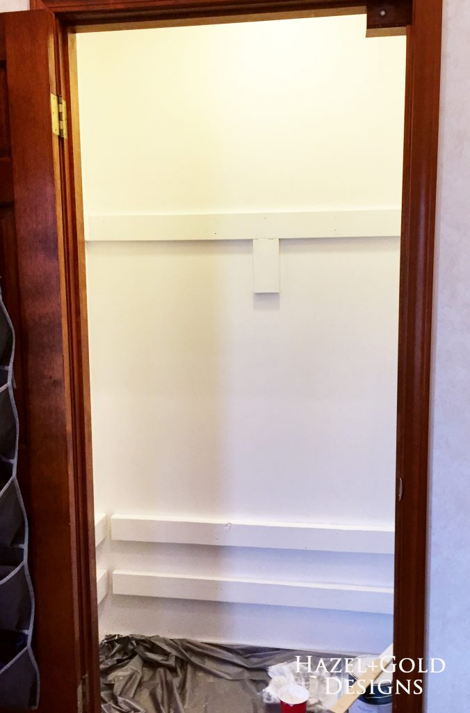 closet renovation - painted white