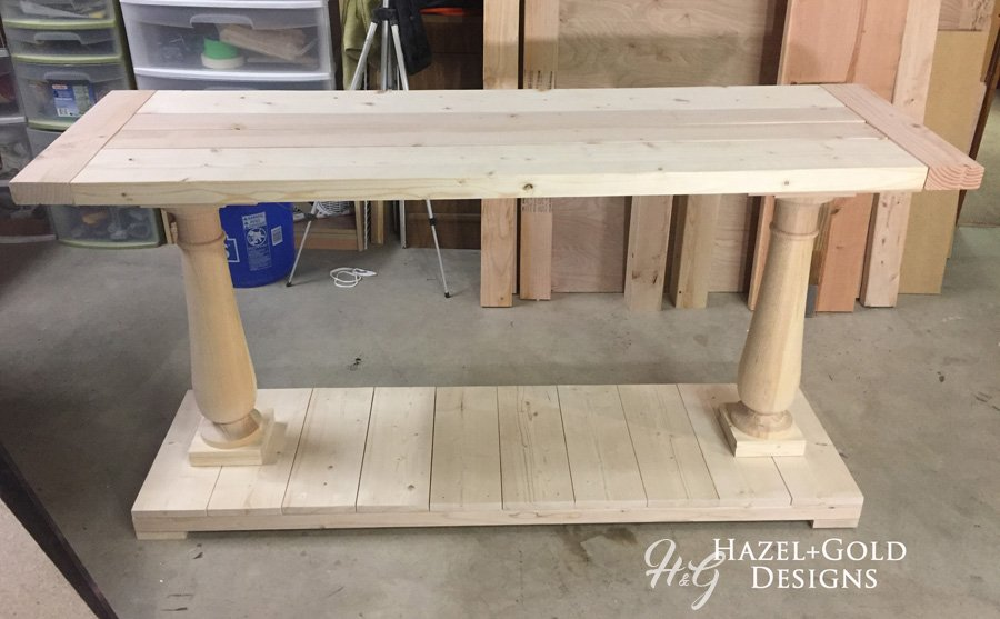 balustrade console table build completed