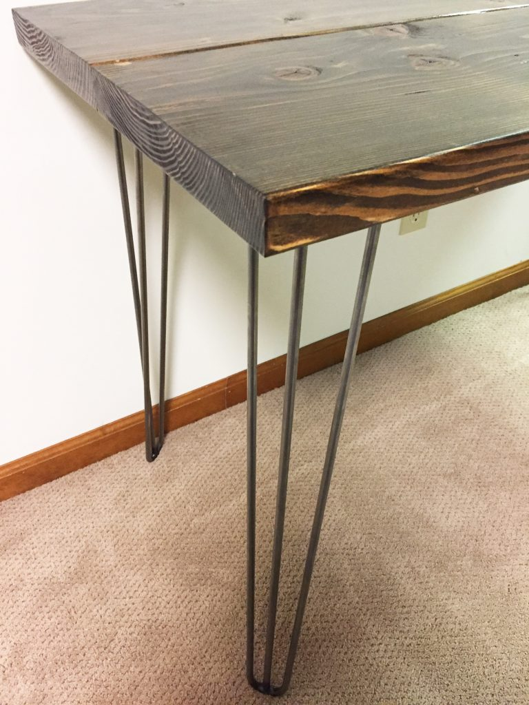 hairpin leg desk finished corner shot