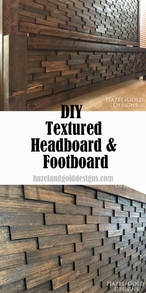 wood shim textured headboard footboard pinnable image
