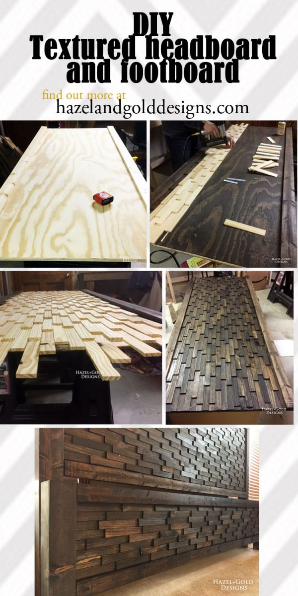 Check out this awesome DIY headboard and footboard...you'll never believe what I used to make it!