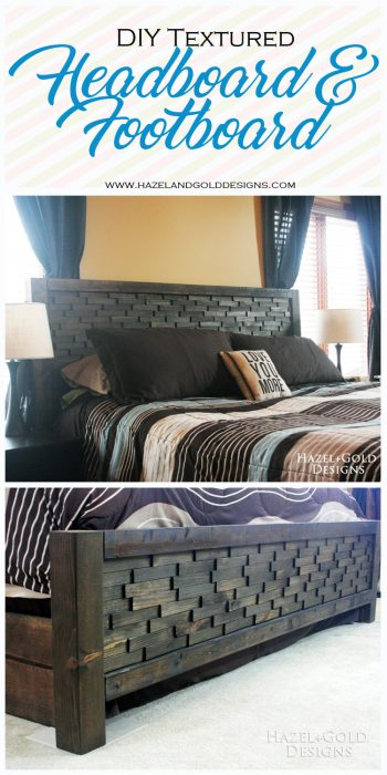 wood shim headboard complete pinnable image